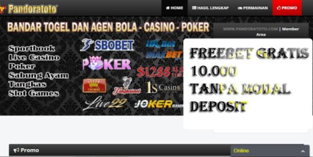 PANDORATOTO - freebet 10.000 gratis tanpa modal deposit - freebet togel