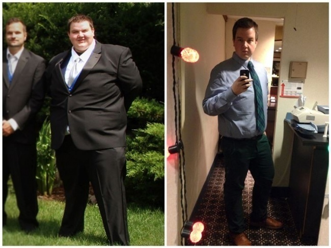 #12. This is what 176 extra pounds looks like when you've got them and when you don't. - 23 Inspirational Before/After Photos Of People Who Can Say 'I Did It.'