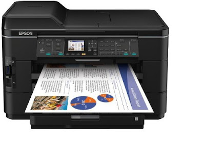multifunction printer for printouts up to A Epson WF-7525 Driver Downloads