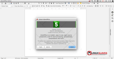 LibreOffice 5.0 Screenshot