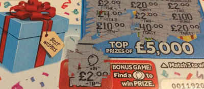 £1 Happy Birthday National Lottery Scratch Card £4 Win