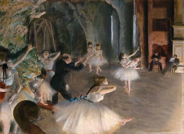 Эдгар Дега - Репетиция на сцене (1874)
