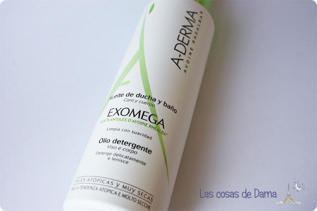 Exomega Aceite Baño Ducha  A-Derma dermocosmetica belleza atopia dermatitis