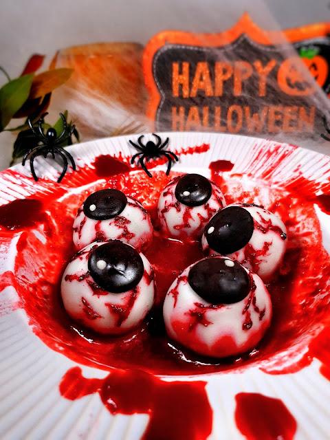 YEUX HALLOWEEN _ energy balls proteinees au chocolat & puree de cacahuetes_sans gluten