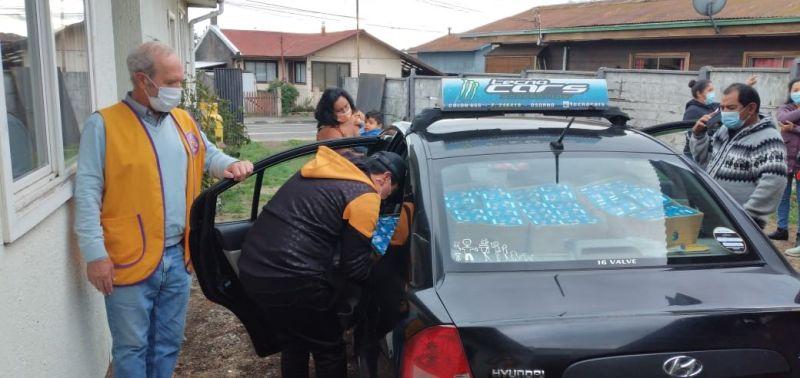 Club de Leones Osorno realiza donación a distintos hogares de la ciudad