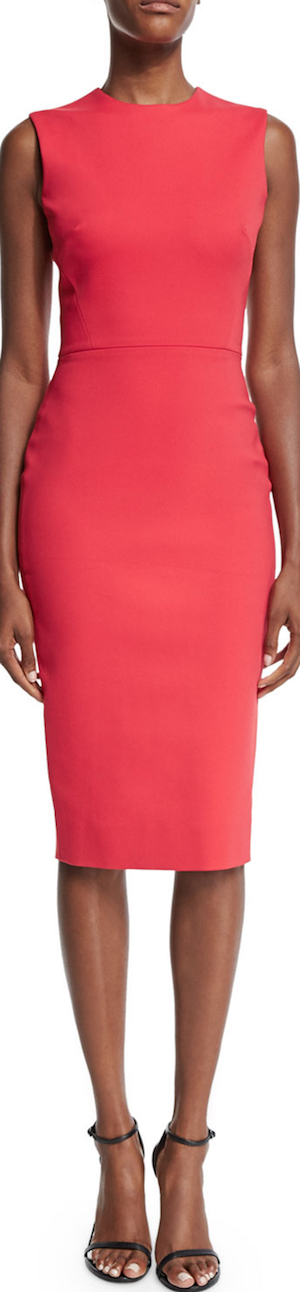 Victoria Beckham Sleeveless Jewel-Neck Sheath Dress