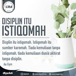 Disiplin Itu Istiqomah - Qoutes - Kajian Islam Tarakan