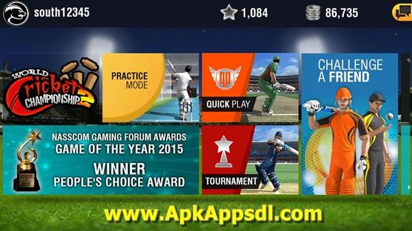 Free Download World Cricket Championship 2 MOD Apk 2.5.1 (All Unlocked) Terbaru 2017 + OBB DATA