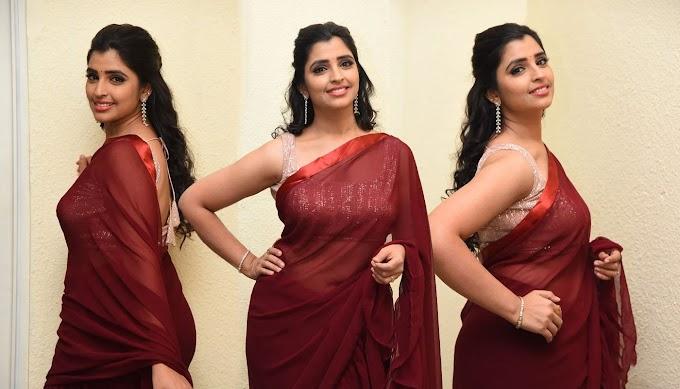 Actress Anchor Syamala In Saree Stills