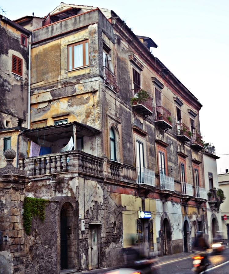 Old houses in Sorrento, Italy