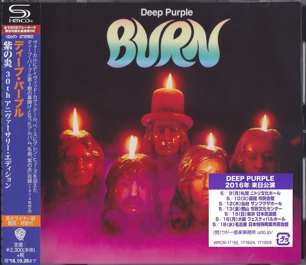 DEEP PURPLE - Burn [30th Anniversary SHM-CD remastered] (2016) full