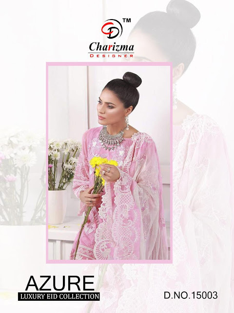 Charizma Azure Eid collection pakistani suits