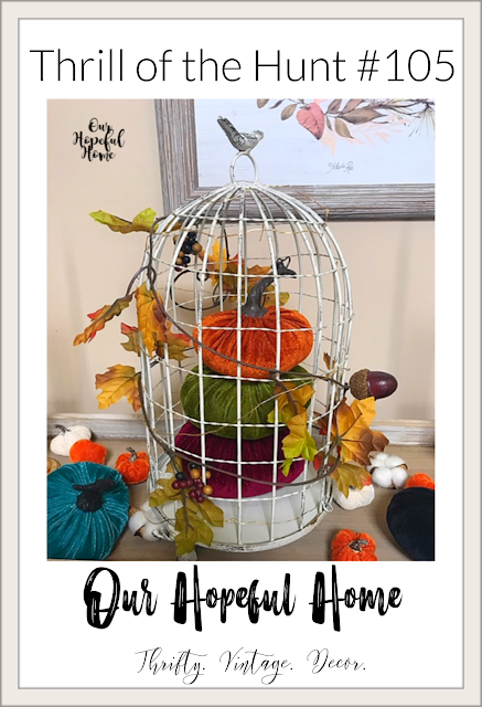 vintage bird cage pumpkin topiary foyer decor