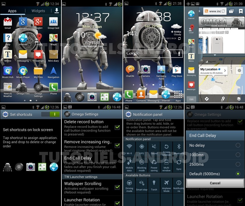 Captures : Omega v20.1 pour GALAXY S2