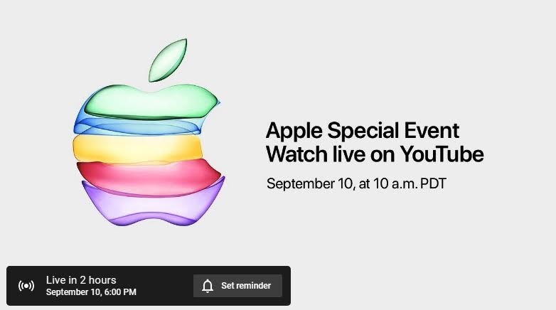 Apple Event 2019: How To Watch, Live Stream