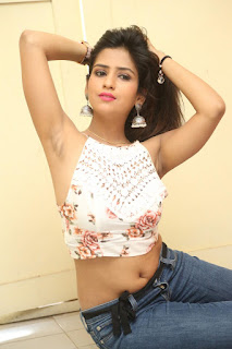 Deekshita Parvathi in a short crop top and Denim Jeans Spicy Pics Beautiful Actress Deekshita Parvathi January 2017 CelebxNext (202).JPG