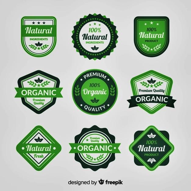 Desain logo organic food keren