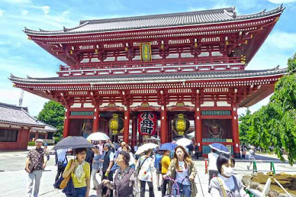 Kuil Asakusa, Kuil Agama Buddha Terbesar di Asakusa, Tokyo Jepang