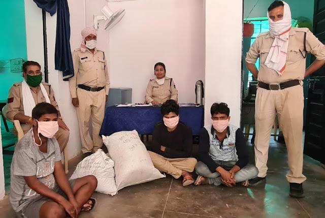 स्कार्पियों से पुलिस ने पकड़ा 15 किलो गाजा, तीन आरोपी गिरफ्तार