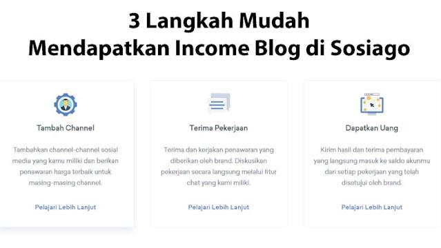 3 Langkah Mudah Mendapatkan Income Blog Melalui Sosiago