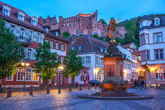 Ruas da cidade de Heidelberg