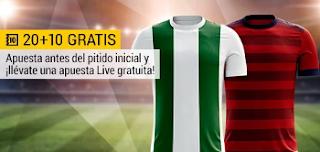 bwin promocion 10 euros Córdoba vs Osasuna 10 noviembre