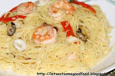 Seafood+Pasta+Aglio+Olio - Seafood Pasta Aglio Olio Recipe