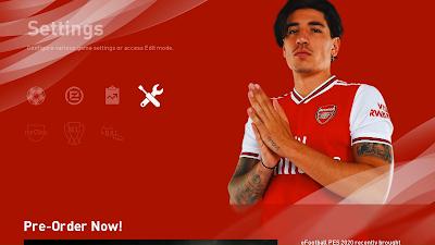 PES 2020 Arsenal FC Graphic Menu Mod by Hawke