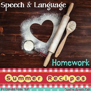 https://www.teacherspayteachers.com/Product/Speech-and-Language-Homework-Summer-Recipes-2530560
