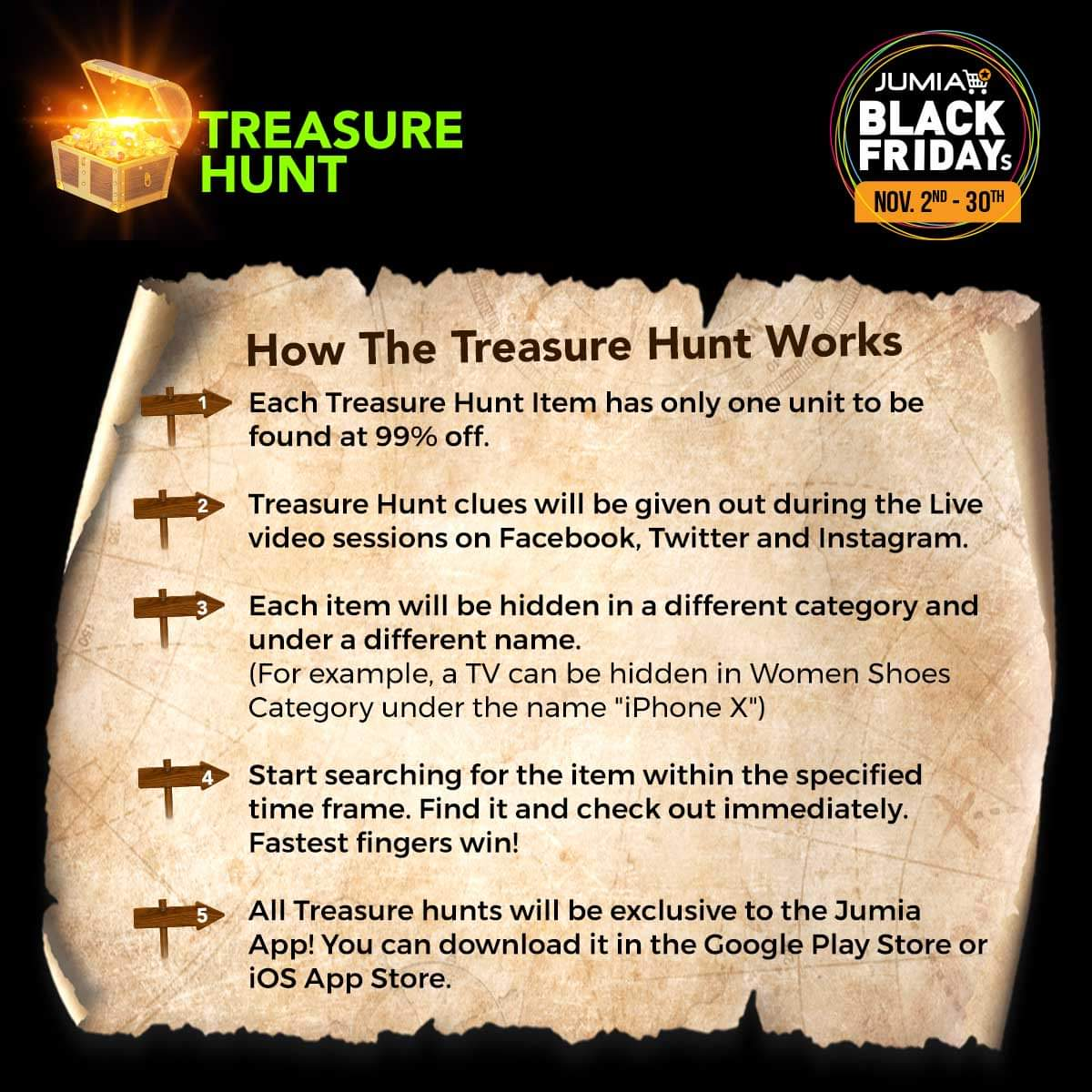 Jumia Treasure Hunt Clues