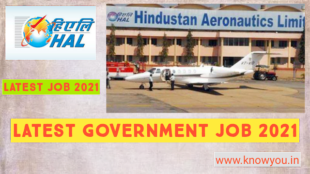 HAL Job Vacancy Feb-2021, Job vacancy for Fresher Boys and Girls Graduate, Hindustan Aeronautics Limited Jobs 2021.
