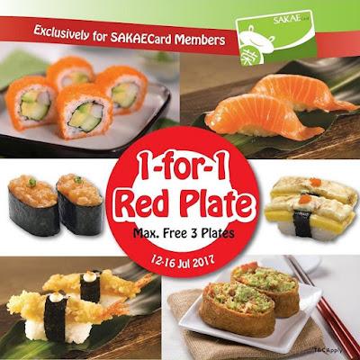 Sakae Sushi Malaysia Card Member Buy 1 Free 1 Red Plate Promo