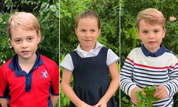 Prince George wore a rugby shirt from Thomas Battersea, Prince Louis wore an organic cotton stripe jumper from John Lewis. Princess Charlotte