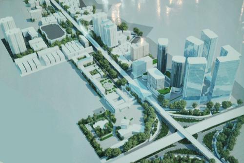 Phối cảnh đồ án thiết kế đô thị hai bên tuyến đường Xuân Thủy