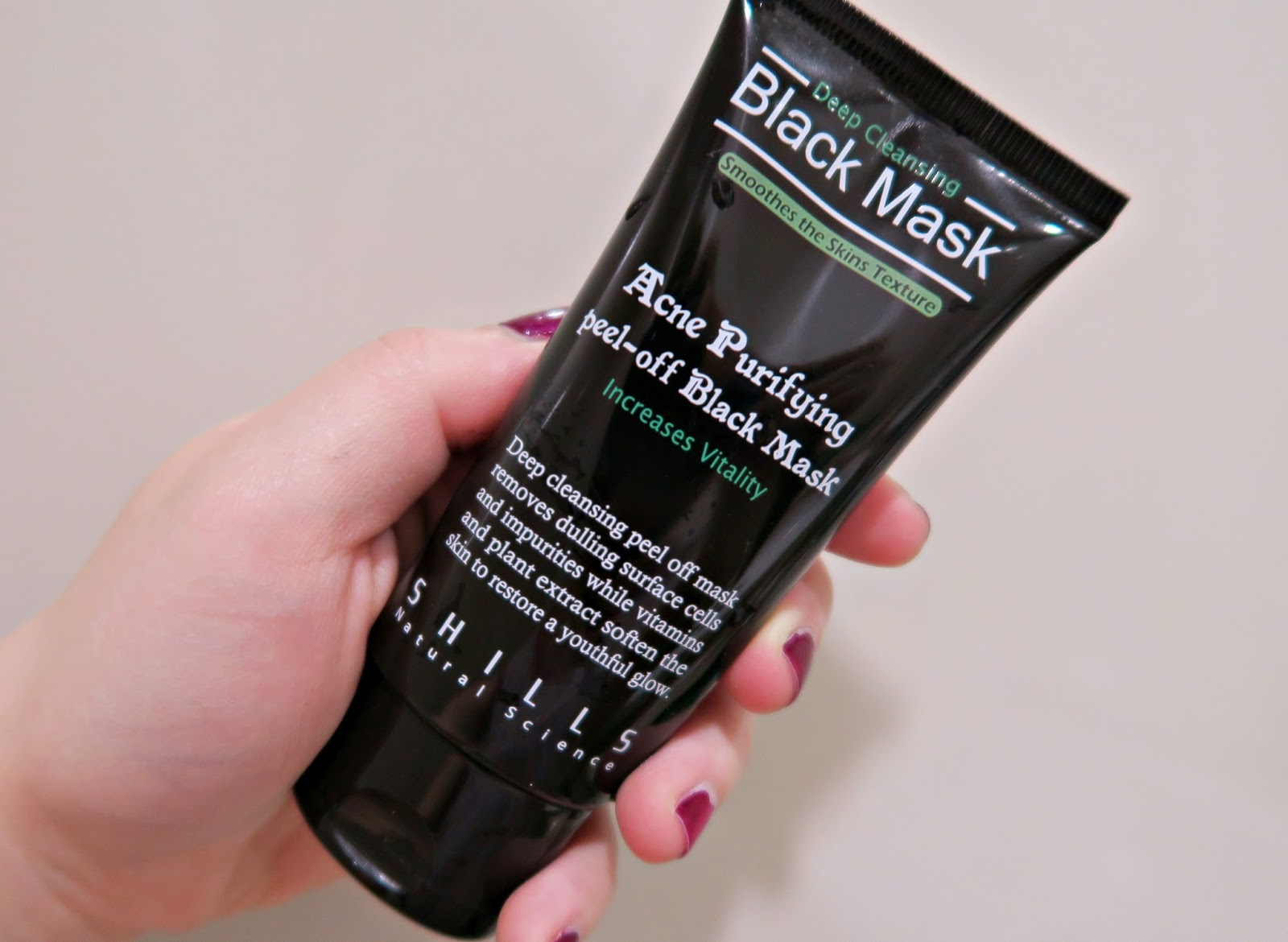 Acne Purifying Peel Off Black Mask By Shills Review And First Impression