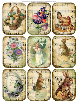 free printable digital easter tags themerryoldedame merryneedle