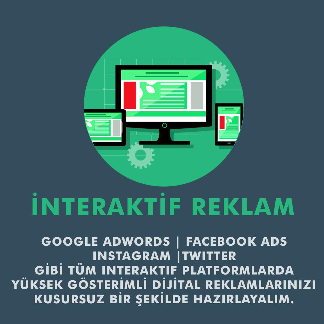 Google Adwords, Google Adsense, Facebook Ads, Intagram Reklamları, Twitter Reklamları, Pinterest Reklamları, Sosyal Medya Reklamları, Dijital Reklamlar