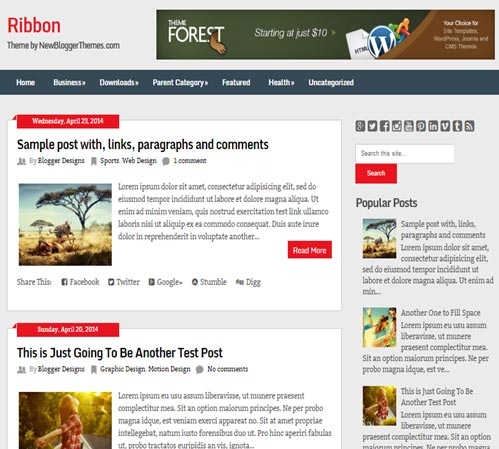 Ribbon Blogger Template