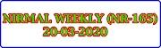 NIRMAL WEEKLY NR-165 Kerala Lottery Result Today 20-03-2020