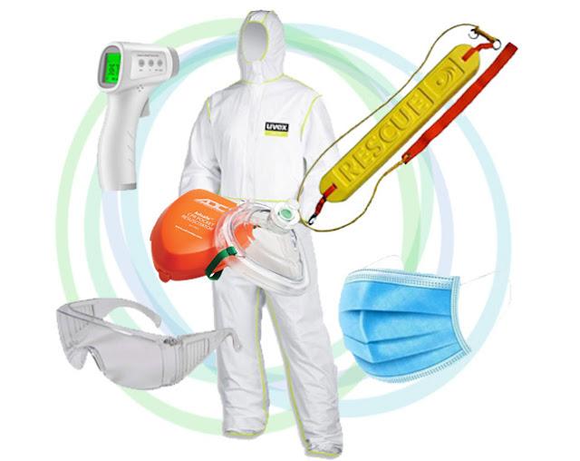 équipement protection covid19 pour sauvetage aquatique