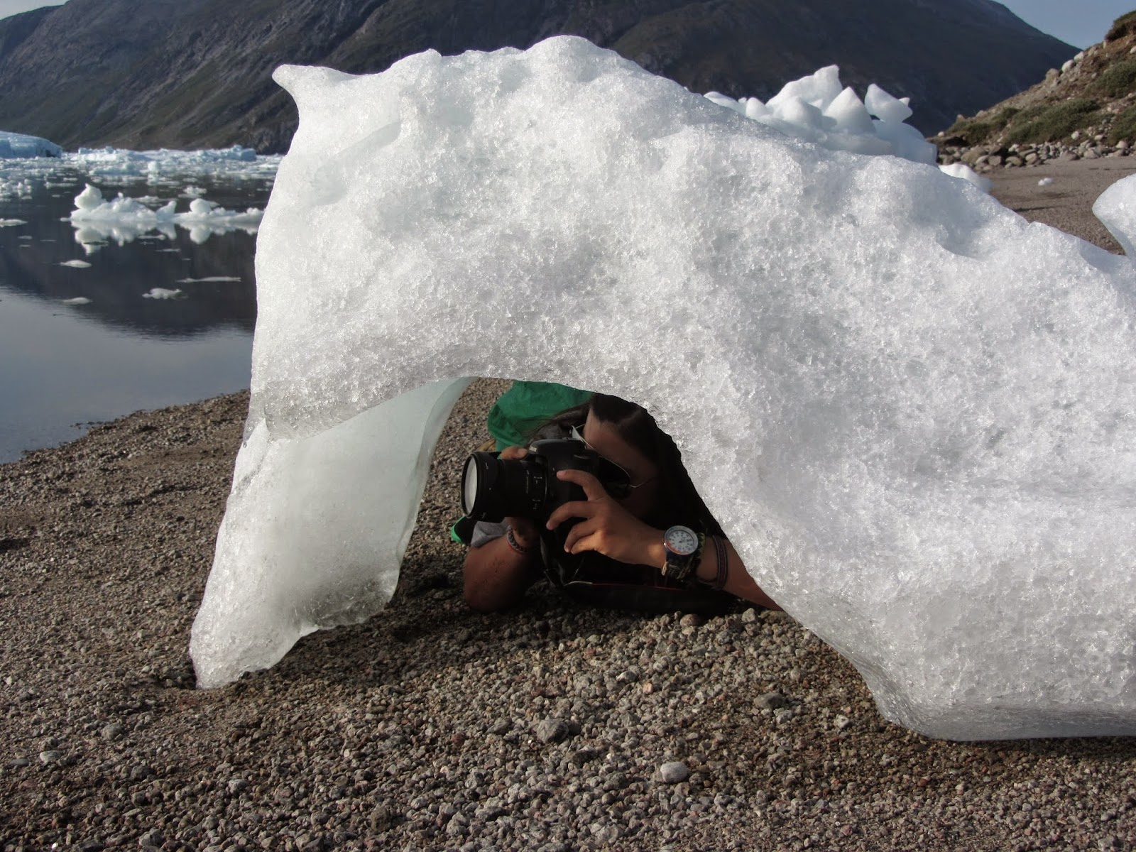 TREKKING NA GRONELÂNDIA - 2º dia: Convivendo com os gelos flutuantes no BLUE ICE CAMP