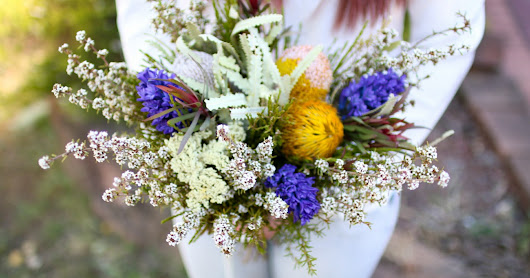 Wedding Bouquet Practice with Australian Native Flowers