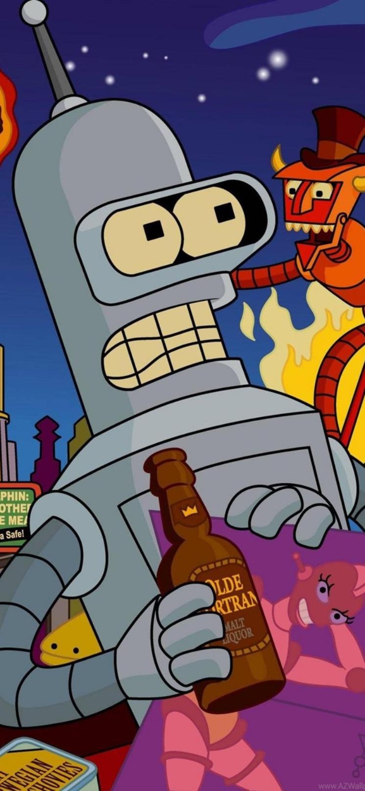 bender futurama beer wallpaper iphone