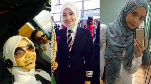 Meski Berprofesi Sebagai Pilot, Gadis Cantik Berhijab Ini Tak Pernah Tinggalkan Shalat Lima Waktu
