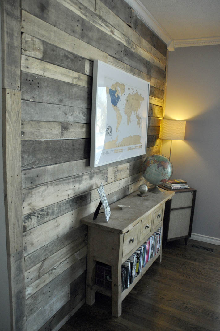 Diy Pallet Bathroom Wall Paneling: Artisan Des Arts: DIY Pallet Wall For $0