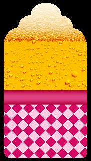 Marcapaginas para Imprimir Gratis de Fiesta de la Cerveza para Chicas.
