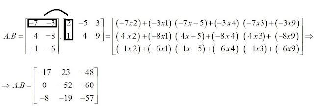 multiplicando as matrizes