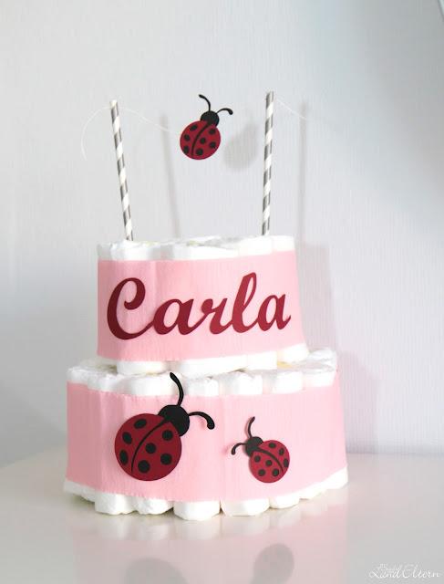 Stadtlandeltern - DIY - Diaper - Cake - Girl - Ladybug - Rosa