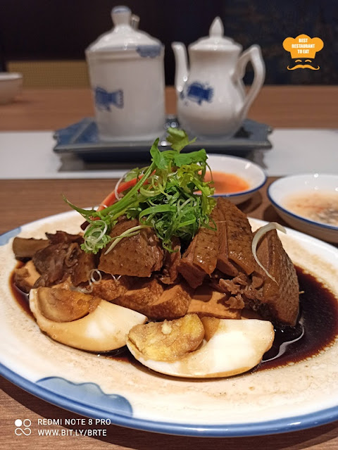 Ala Carte Menu - Slow-Braised Duck with Free-Range Eggs and Bean Curd 鹵水鴨拼盤