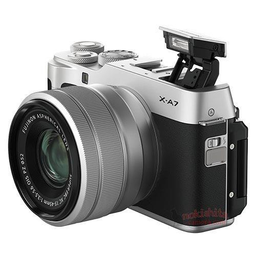 Fujifilm X-A7 с выдвинутой вспышкой